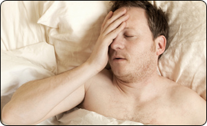 Man Not Sleeping Well