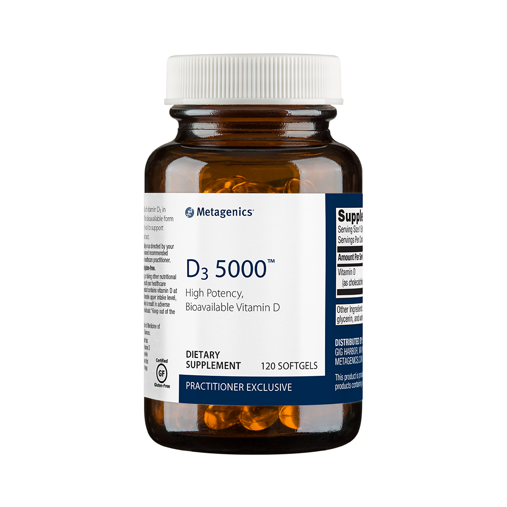 Vitamin D3 (120 softgels, 5000 IU) by Metagenics