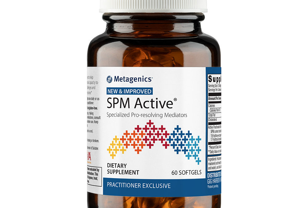 Omegagenics SPM Active (60 softgels) Improved Formula by Metagenics