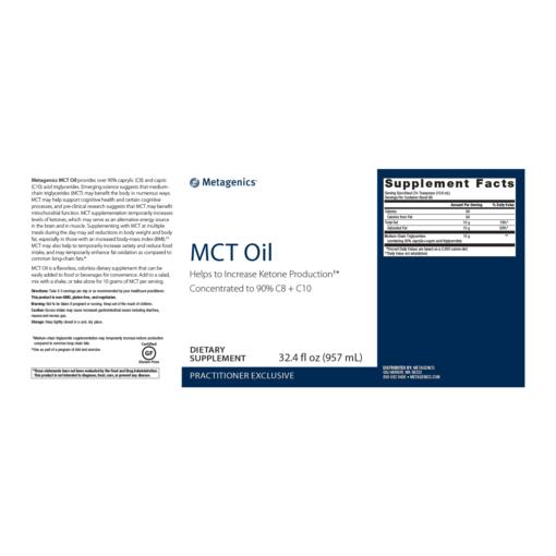 MCT Oil 32oz - image mct-oil-metagenics-32oz-nutrition-facts-510x510 on https://www.iprogressivemed.com
