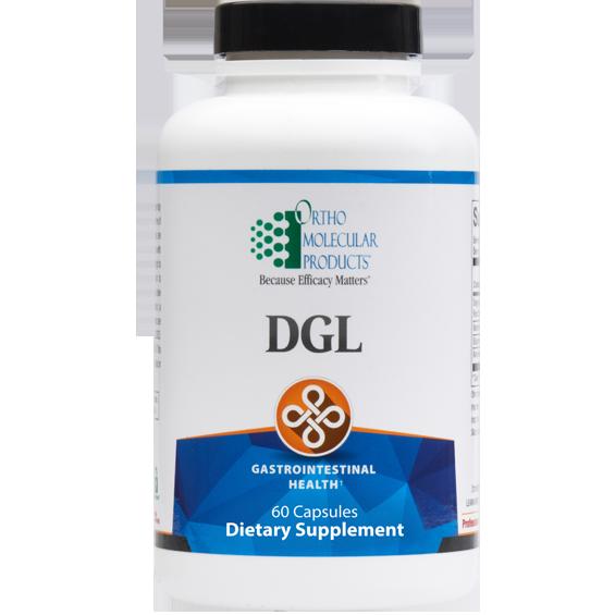 DGL Deglycyrrhizinated Licorice (60 caps) by Orthomolecular