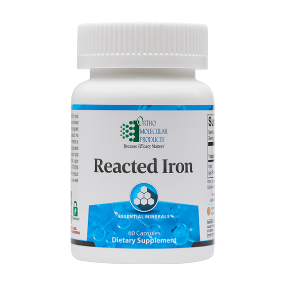 Reacted Iron (60 caps) by Orthomolecular