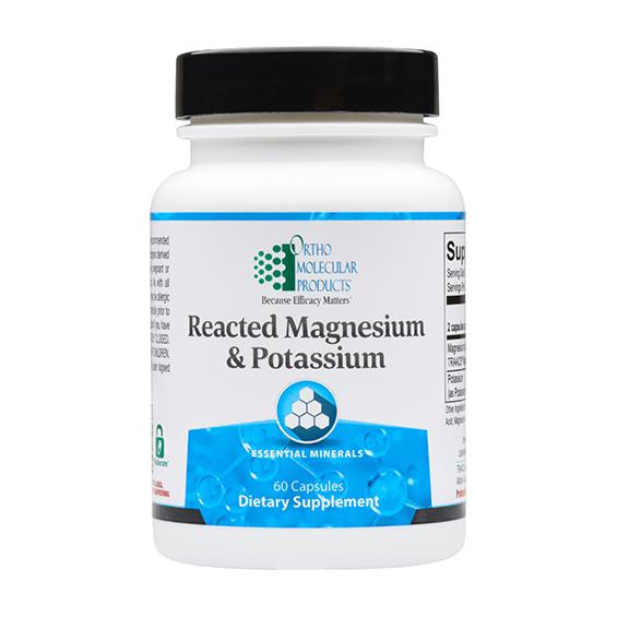 Reacted Magnesium and Potassium (60 caps) by Orthomolecular