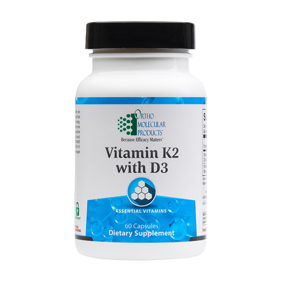 Vitamin K2 with D3 (60 caps) by Orthomolecular