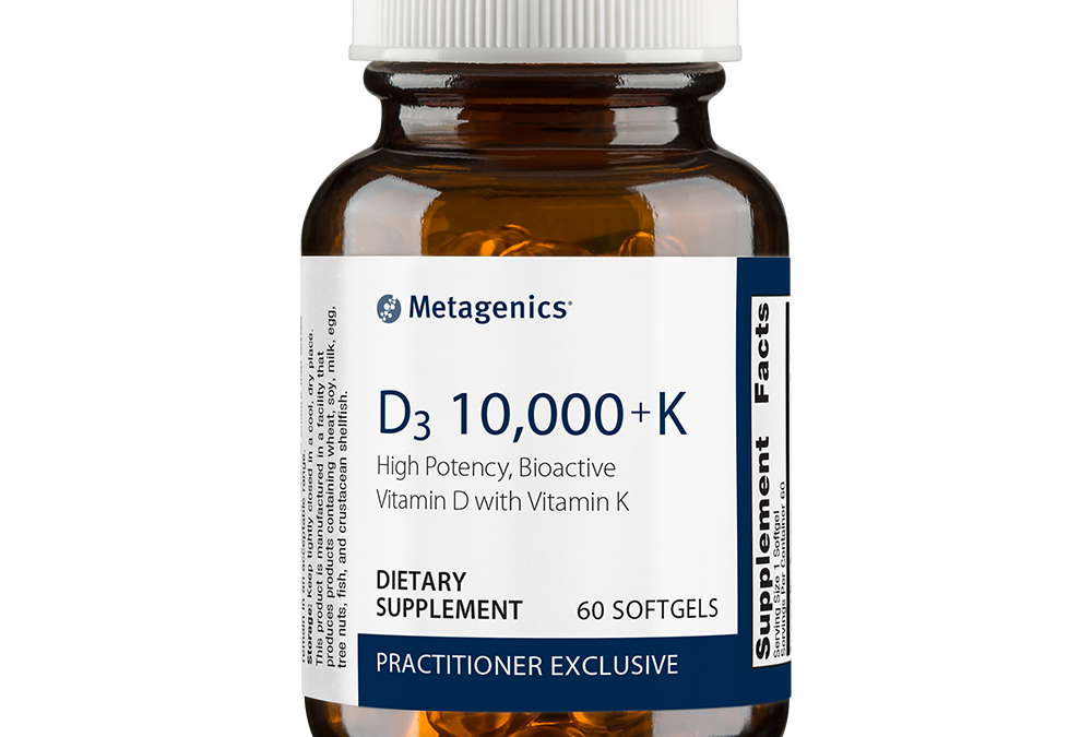D3 10,000 with K2 (60 softgels) by Metagenics