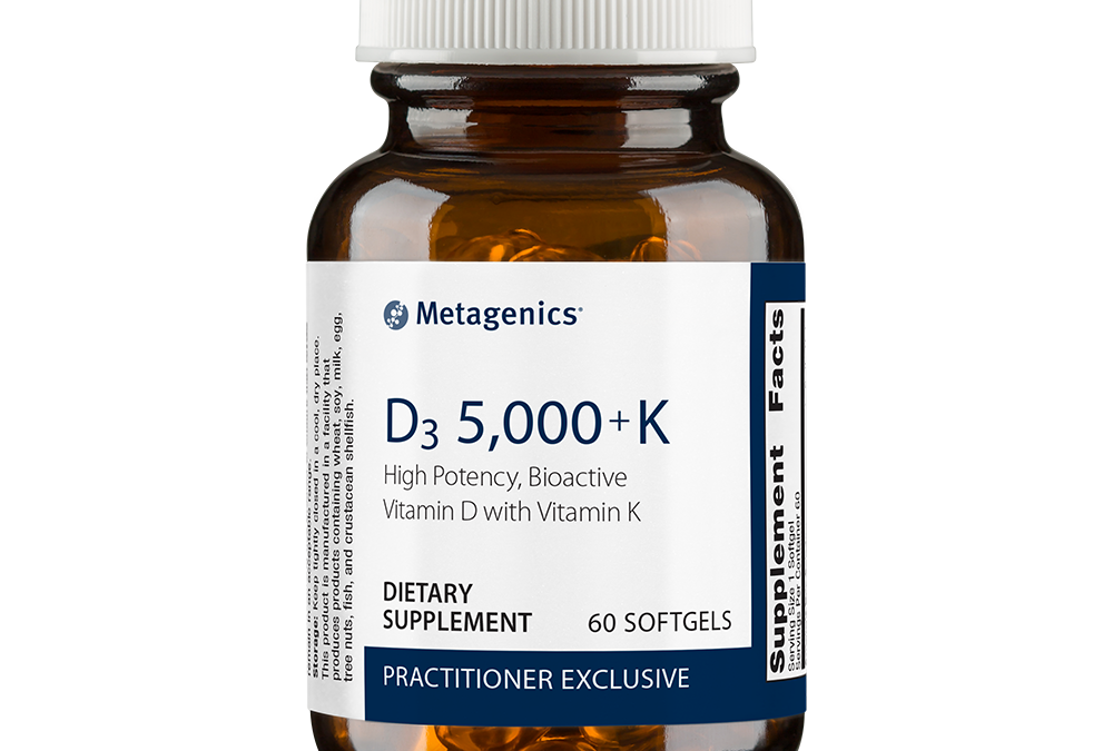 D3 5,000 with K2 (60 softgels) by Metagenics